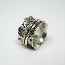 Paisley Spinner Ring