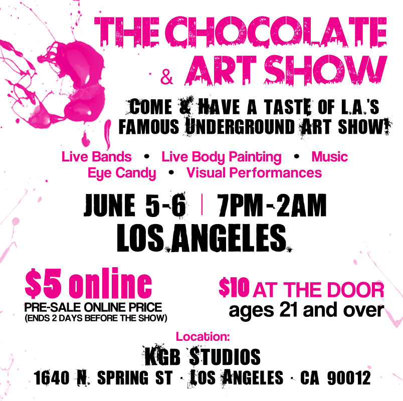 LA Art and Chocolate Flyer