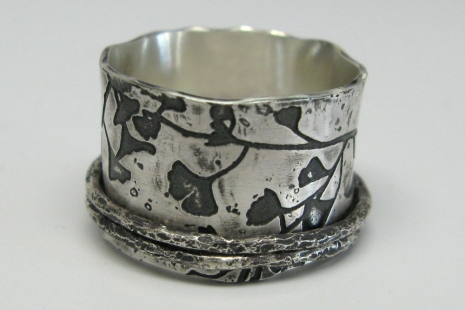 Ginkgo Leaf Print Ring