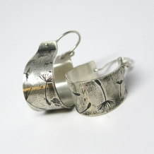 Dandelion Cuff Earrings