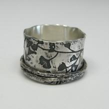 Ginkgo Leaf Print Ring