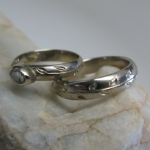 Hand Engraved Anniversary Rings