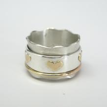 Hearts Spinner Ring