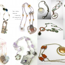 A collection of one of a kind necklaces - sold