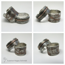 Cherry Blossom BiMetal Rings