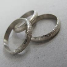 14k Palladium White Gold Paisley Rings